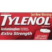 Tylenol Extra Strength Caplets with 500 mg Acetaminophen, Pain Reliever & Fever Reducer, 225 Count