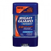 Right Guard Sport 3-D Odor Defense, Antiperspirant & Deodorant Clear Gel, Cool - 3 oz