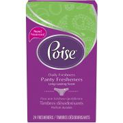 Poise Panty Fresheners, 24 Count