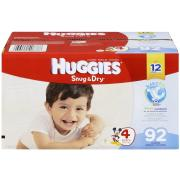 Huggies Snug & Dry Diapers, Size 4, 92 Count