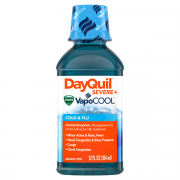 Vicks DayQuil Severe with VapoCool Daytime Cough, Cold and Flu Relief Liquid, 12 FL OZ