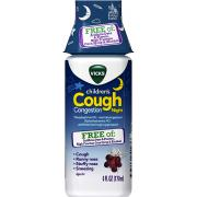Vicks Children's Cough & Congestion Night Relief Dye-Free, 6 Fl oz