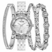 Anne Klein 12/2317WTST Stainless W/Crystals Ceramic Women's Watch Set
