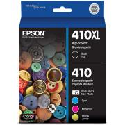 Epson T410XLBCS 410XL Black & Standard Photo  Color Ink Cartridges, Combo 5 Pack