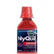 Vicks NyQuil Cough Liquid, Cherry, 10 oz
