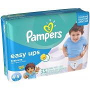 Pampers Easy Ups Boys Mega Pack, Size 6, 4T-5T, 33 Count