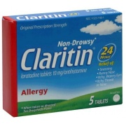 Claritin Allergy 24 Hour Non Drowsy, 5 Count