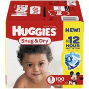 Huggies Snug & Dry Diapers, Size 3, 100 Count