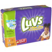 Luvs Ultra Leakguards Diapers With Nightlock, Size 3, 34 Count