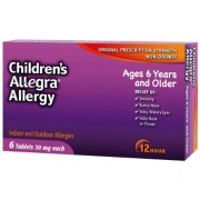Allegra Children's 12 Hour Allergy Relief, 6 Count