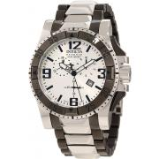 Men's Invicta  10536 Excursion Reserve Chronograph Silver Dial Two Tone Stainless Steel Watch
