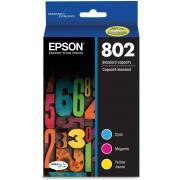 Epson T802520 802 DURABrite Ultra Color Combo Pack Standard Capacity Cartridge Ink