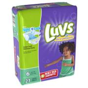 Luvs Ultra Leakguards Diapers With Nightlock, Size 6, 21 Count