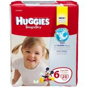 Huggies Snug & Dry Diapers, Size 6, Jumbo, 23 Count
