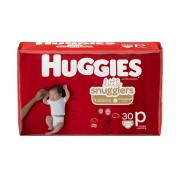 Huggies Little Snugglers Preemies Baby Diapers Jumbo Pack, Size P, 30 Count