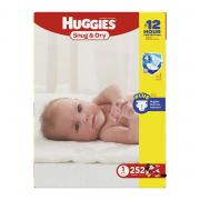 Huggies Snug & Dry Diapers, Size 1, 252 Count