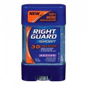 Right Guard Sport 3-D Odor Defense, Antiperspirant & Deodorant Clear Gel, Active 3 oz